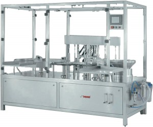 Automatic high speed cintinuous aotion inject able liquid filling machine