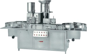 Automatic high speed powser filling for inject able with rubber stoppering machine