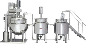 Automatic oinemnet cream manufacturing plant