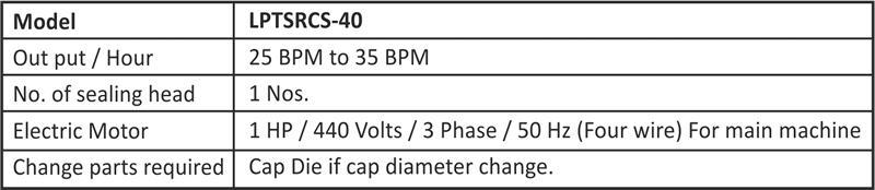 Semi Automatic ROPP Cap Sealing Machine Table